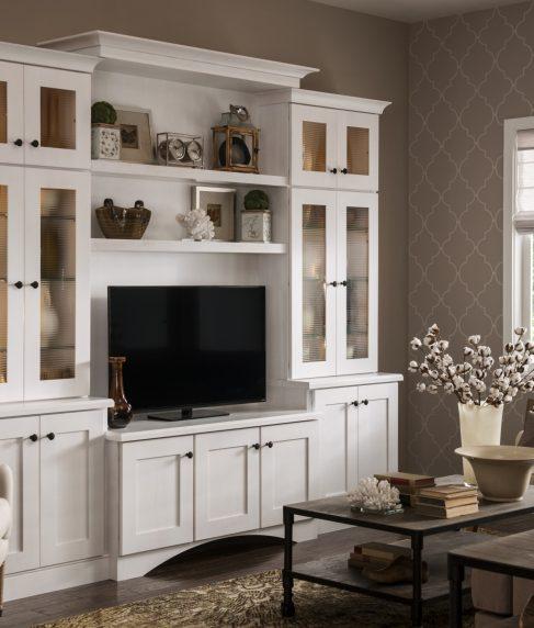 Rigby Reverse Raised Panel maple Cottage White Dry Brush Horizontal Reeded glass