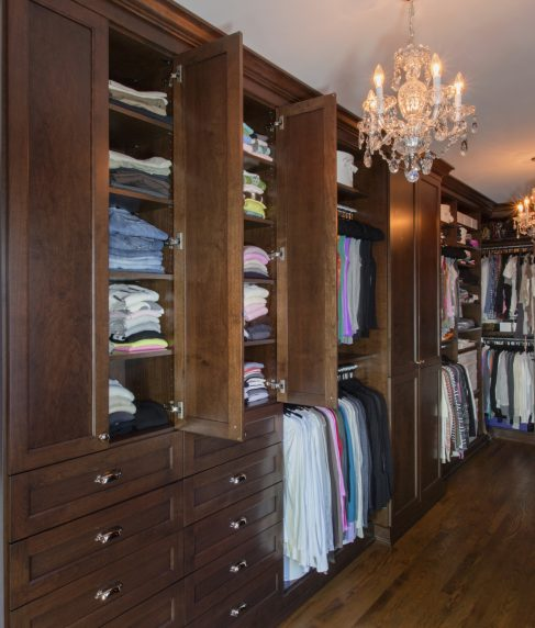 All Wood Stained Closet